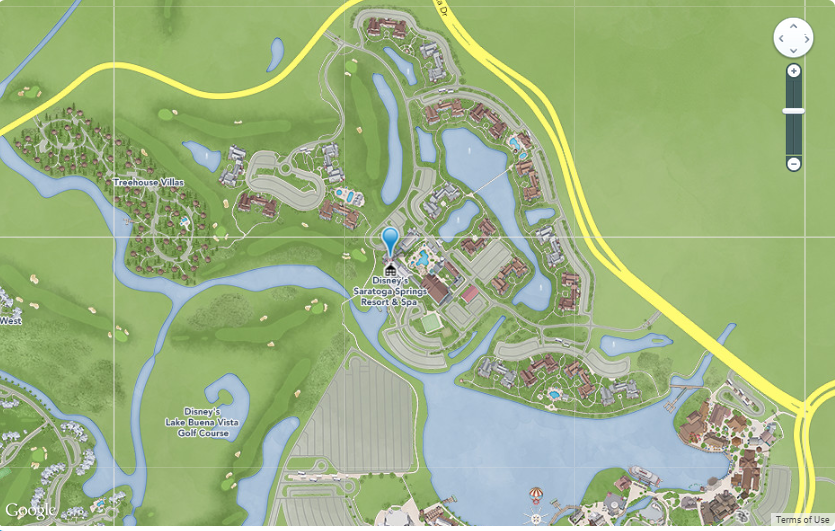 Superior Treehouse Villas. Saratoga Springs Map (Image From Disney)