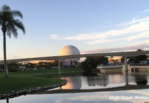 Spaceship Earth and Monorail Track